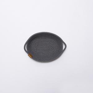 ロープバスケット 小物収納 玄関 ダークグレー おしゃれ ナチュラル インテリア雑貨 コットンロープ 本革 モック ロープストレージ Sサイズ|toyocase-store|04