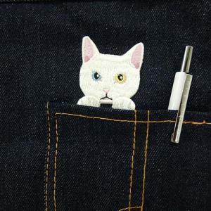 ブローチ&ステッカー 刺繍ステッカー 猫刺繍 ワッペン アイロン接着 エンブロイダリーキャッツ ネコグッズ しろねこ メーカー直販|toyocase-store