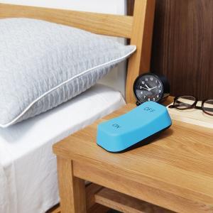 LEDライト 間接照明 スイッチ 単3電池 玄関 トイレ ベッド オシャレ おもしろ雑貨 ギフト 電球色 スイッチ型 スイッチライト ブルー 96298 メーカー直販|toyocase-store|07