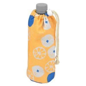 北欧柄 オレンジ オシャレ 保冷 アルミ ペットボトルカバーマイボトル ボトルホルダー お揃い 水筒 500ml クルミボトルホルダー 96182|toyocase-store|03