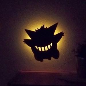 ポケモングッズ ゲンガー ウォールライト フットライト 壁面 照度センサー電池式  LEDライト Pokemon Wall Light メーカー直販 93846