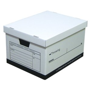 スローイングボックス ストレージボックス クラフト ダンボール 収納ボックス 書類 小物 整理 A4対応 ファイル収納 日本製 ブラック 1個|toyocase-store
