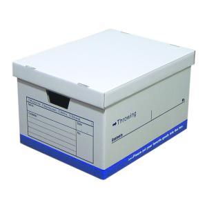 スローイングボックス ストレージボックス クラフト ダンボール 収納ボックス 書類 小物 整理 A4対応 日本製 ブルー 1個|toyocase-store