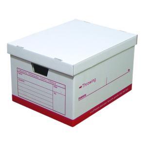 スローイングボックス クラフト ダンボール ストレージボックス 収納ケース 書類 小物 整理 A4対応 日本製 レッド 1個|toyocase-store