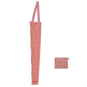 傘カバー ポケッタブル ギンガムレッド|toyocase-store