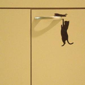 ウォールステッカー 貼りはがし可能 ねこステッカー ネコ小物 キャットライフお魚欲しい メーカー直販|toyocase-store