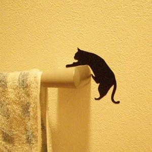 ウォールステッカー 貼りはがし可能 ねこステッカー ネコ小物 キャットライフ落ちそう メーカー直販|toyocase-store