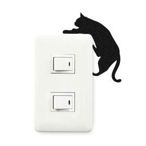 ウォールステッカー 貼りはがし可能 ねこステッカー ネコ小物 キャットライフ落ちそう メーカー直販|toyocase-store|02