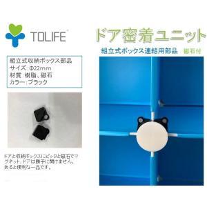 ドア密着ユニット 磁石付 組立式収納クローゼットに専用 組立収納ボックス部品 4個1セット 送料無料