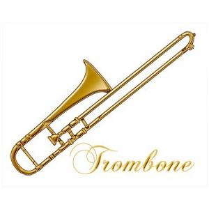 蒔絵シール 「Musical Instruments トロンボーン」 ステッカー 楽器 音楽
