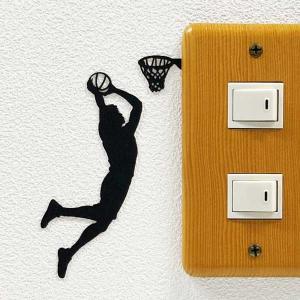 スポーツ ウォールステッカー  (バスケットボール ダンクシュート(ボスハンド))スイッチ ステッカ...