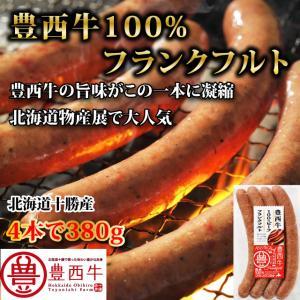 豊西牛100% フランクフルトソーセージ 380g(4本入り) トヨニシファーム 冷凍 赤身肉 十勝産ブランド牛|toyonishifarm