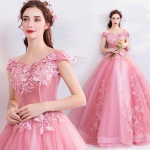 カラードレス 結婚式 花嫁 ロング 二次会 演...の関連商品1