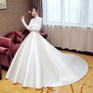 16a9e4e25485b ウエディングドレス 長袖 ボレロ 安い 二次会 ウェディングドレス 結婚式 エンパイア 花嫁 ドレス サテン 白 披露宴 ロングドレス ブライダル  wedding dress
