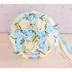 ウエディングブーケ 安い ブートニア 結婚式 ローズ 造花 ウェディング用 アレンジメント 花嫁 ブーケ 手作り キット ブライダルブーケ ジュエリー