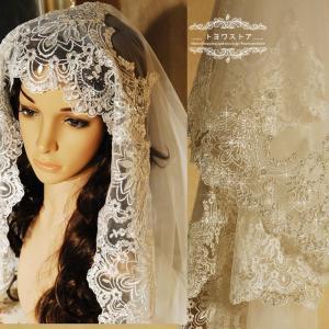 輝いた花嫁にふさわしいウエディングベールです。  サイズ:長さ約270-300cm  階層:1層  ...