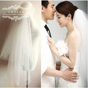 輝いた花嫁にふさわしいウエディングベールです。  サイズ:第1層は70cm 第二層は90cm  階層...