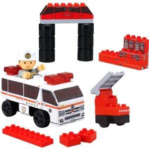 ブロックラボ ビークルブロック ビッグはしご車ブロックセット  BlockLabo ベビー 知育
