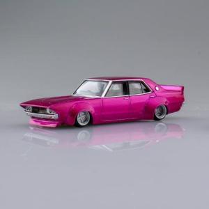 1/64スケール ダイキャストミニカー グラチャンコレクション BEST2 [1.ケンメリ4Dr 1973年式 (C110):ピンク]【 ネコポス不可 】|toysanta