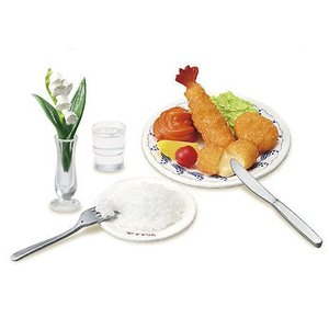ぷちサンプルシリーズ 老舗洋食 すずらん わたしの街のハイカラごはん [6.フライ三種盛り合わせにライスをつけて]【ネコポス配送対応】(RM)|toysanta