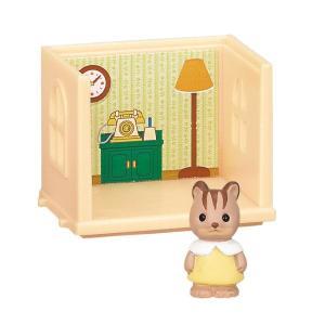 シルバニアファミリーつながるお部屋シリーズ16 緑の家具とすてきなお部屋 [2.リビングルーム&くるみリスの赤ちゃん]【 ネコポス不可 】|toysanta