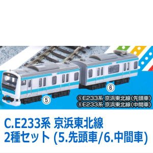 Bトレインショーティー in カプセル [C.E233系 京浜東北線 2種セット (5.先頭車/6....