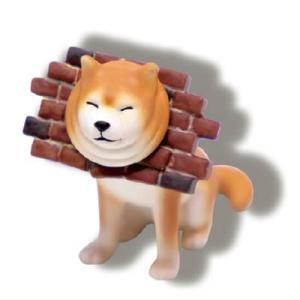 挟まり犬ボールチェーンマスコット [3.レンガブロックに挟まり犬]【ネコポス配送対応】 toysanta