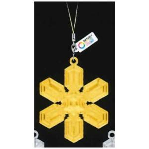 ネイチャーテクニカラーMONO 雪の結晶 チャームストラップ ゴールド&シルバー [3.星形角板 II (ゴールド)]【ネコポス配送対応】|toysanta