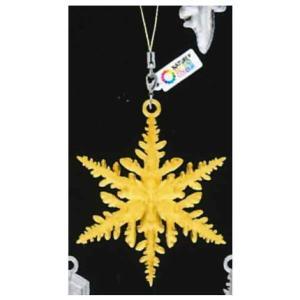 ネイチャーテクニカラーMONO 雪の結晶 チャームストラップ ゴールド&シルバー [4.星形樹枝 I (ゴールド)]【ネコポス配送対応】|toysanta