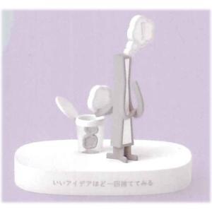 海洋堂 × nendo カプセルQミュージアム アイデアの素. Vol.2 [1.いいアイデアほど一回捨ててみる(ホワイト)]【 ネコポス不可 】[sale190403]|toysanta