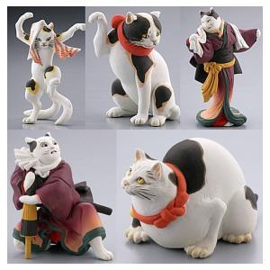 【全部揃ってます!!】カプセルQミュージアム 歌川国芳 猫の立体浮世絵美術館(再販) [全5種セット(フルコンプ)]【ネコポス配送対応】|toysanta