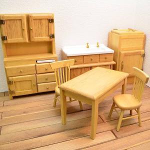 【送料無料】ミニチュア家具 クラシック キッチン家具6点セットA オーク [CLA00144][m-s][imp]【 ネコポス不可 】|toysanta