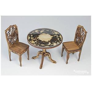 コバアニ cobaanii mokei工房 ウッデンフォルム 1/12スケール ヨーロッパのアンティークな机と椅子 組み立てキット [WF-018] [m-s] 【ネコポス配送対応】|toysanta