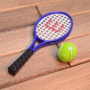 ミニチュア雑貨 テニスラケット&ボール [BM59] [m-s][m-s] 【ネコポス配送対応】|toysanta