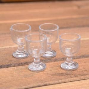 ミニチュア雑貨 ワイングラス 4個セット (プラスチック製) [DM209] [m-s][m-s] 【ネコポス配送対応】|toysanta