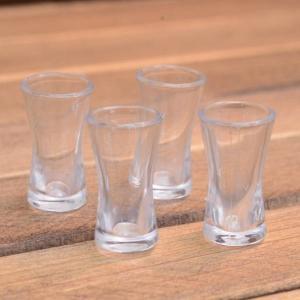ミニチュア雑貨 カーブドグラス 4個セット (プラスチック製) [DM207] [m-s][m-s] 【ネコポス配送対応】|toysanta