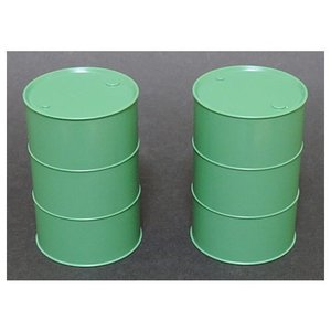ミニチュア雑貨 1/12スケール ドラム缶 (グリーン) 2本セット (ピンクタンク pinktank) [m-s] 【 ネコポス不可 】