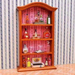 【送料無料】【Reutter】ロイターポーセリン ミニチュア家具 バーキャビネット [RP1715-5] [m-s]● 【 ネコポス不可 】|toysanta
