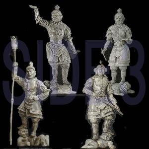 和の心 仏像 シリーズ 2 3 4 四天王 4種セット|toyshopside3