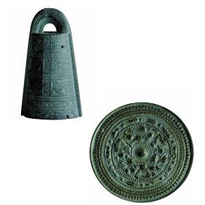 歴史ミュージアム 埴輪と土偶+土器&青銅器 銅鐸 & 銅鏡(三角縁神獣鏡) 2種セット|toyshopside3