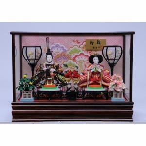 【雛人形】ベビーザらス限定  ケース親王飾り「藤松金襴木目調」【送料無料】