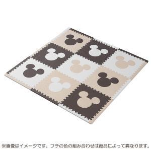 トイザらス イマジナリウム ジョイントマット ふち付き9枚組 ミッキー (カフェカラー)|toysrus-babierus