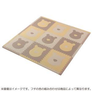 トイザらス イマジナリウム ジョイントマット ふち付き9枚組 くまのプーさん (カフェカラー)|toysrus-babierus