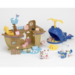 トイザらス限定 シルバニアファミリー 海辺のお船であそぼギフトセット【送料無料】|toysrus-babierus
