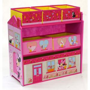 トイザらス限定 ミニー&デイジーダック おもちゃ収納ラック|toysrus-babierus