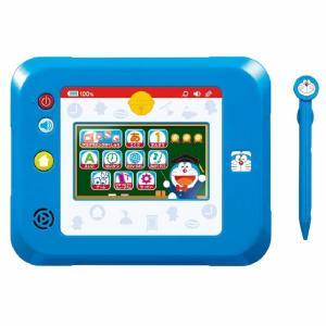 ドラえもんのキャラクターとひみつ道具で楽しく遊べるタブレット型の学習パッドです。直感操作が可能なタブ...