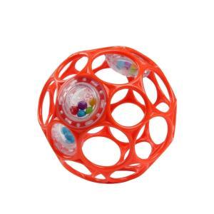 転がして遊んだり、振って音を鳴らす赤ちゃん用のボールです。小さな手でも持ちやすい設計です。  090...