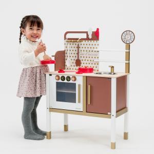 【プレゼント・ギフトに大人気です!】フランスで人気の木製玩具「ジャノー」のおままごとキッチン。木製の...
