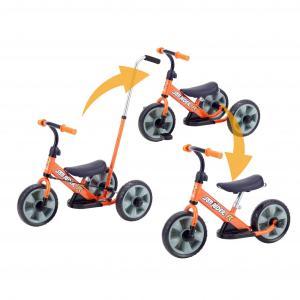 三輪車からランニングバイクにへんしん!カジ取り棒付三輪車(ひとりで乗れるようになるまでまではパパとお...