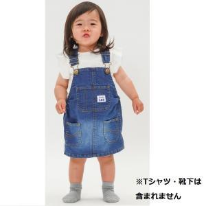 ベビーザらスオリジナル Buddy Leeのジャンパースカートです。ブランドロゴ入りのアンティークゴ...